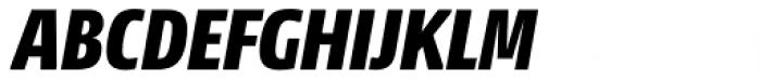 NewsSans Condensed Black Italic Font UPPERCASE