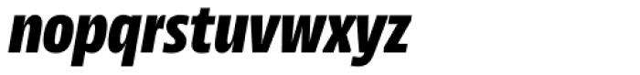NewsSans Condensed Black Italic Font LOWERCASE
