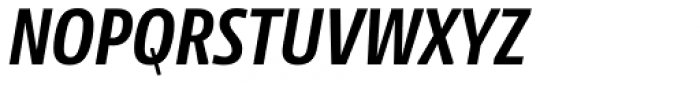 NewsSans Condensed Bold Italic Font UPPERCASE