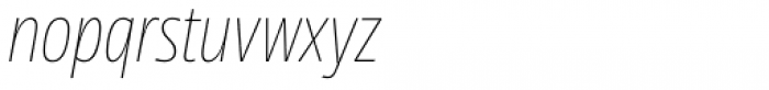NewsSans Condensed Hairline Italic Font LOWERCASE