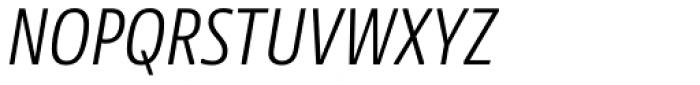 NewsSans Condensed Light Italic Font UPPERCASE