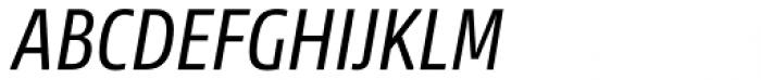 NewsSans Condensed Regular Italic Font UPPERCASE