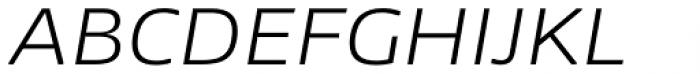 NewsSans Extended Light Italic Font UPPERCASE