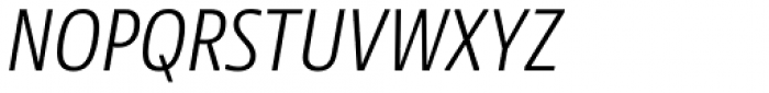 NewsSans Light Condensed Italic Font UPPERCASE