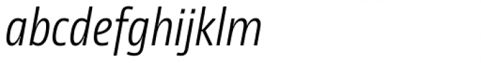 NewsSans Light Condensed Italic Font LOWERCASE