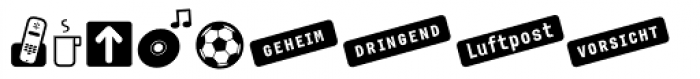 Newsletter Icons Font UPPERCASE