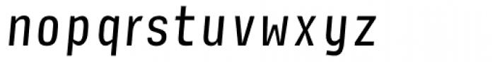 Newsletter Italic Font LOWERCASE