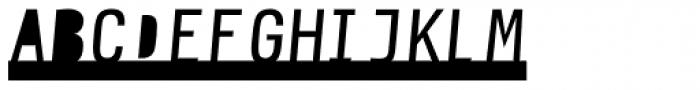 Newsletter Stencil Font UPPERCASE
