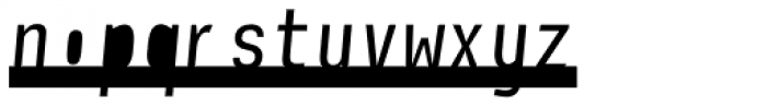 Newsletter Stencil Font LOWERCASE