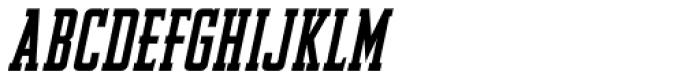 Newsmaker Oblique JNL Font UPPERCASE