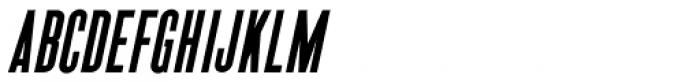 Newsworthy Oblique JNL Font UPPERCASE