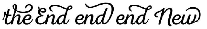 Nexa Rust Extras Script Font UPPERCASE