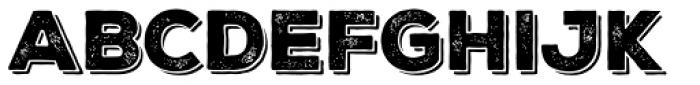 Nexa Rust Sans Black Shadow 1 Font UPPERCASE