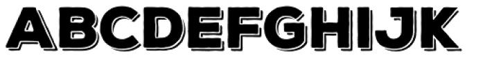 Nexa Rust Sans Black Shadow Font UPPERCASE