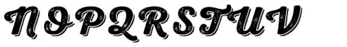 Nexa Rust Script B Shadow 2 Font UPPERCASE