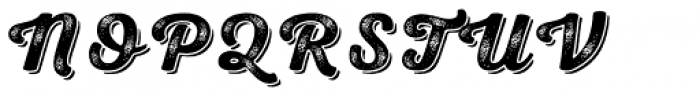 Nexa Rust Script B Shadow 3 Font UPPERCASE