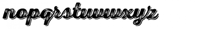 Nexa Rust Script B Shadow 3 Font LOWERCASE