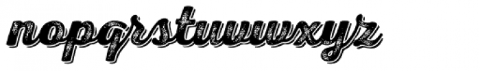 Nexa Rust Script B Shadow 4 Font LOWERCASE