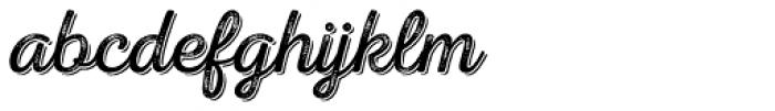 Nexa Rust Script L Shadow 3 Font LOWERCASE
