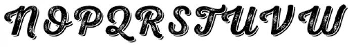 Nexa Rust Script S Shadow 3 Font UPPERCASE