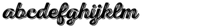 Nexa Rust Script S Shadow 3 Font LOWERCASE