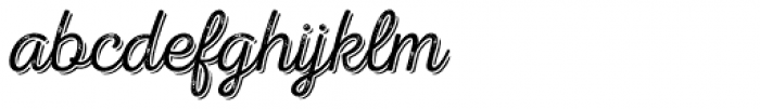Nexa Rust Script T Shadow 2 Font LOWERCASE