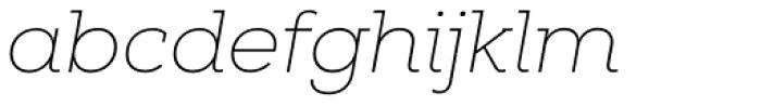 Nexa Slab Thin Italic Font LOWERCASE