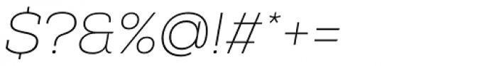 Nexa Slab Thin Oblique Font OTHER CHARS