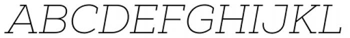 Nexa Slab Thin Oblique Font UPPERCASE