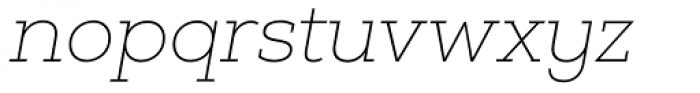 Nexa Slab Thin Oblique Font LOWERCASE
