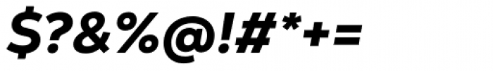 Nexa Text Heavy Italic Font OTHER CHARS