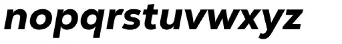 Nexa Text Heavy Italic Font LOWERCASE