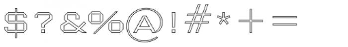 Nexstar Light D Font OTHER CHARS