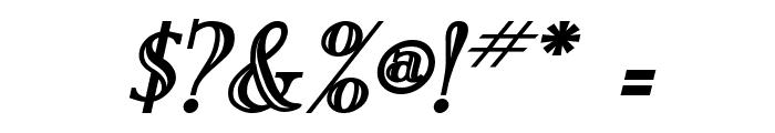New England Engraved BoldItalic Font OTHER CHARS