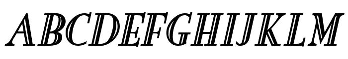 New England Engraved BoldItalic Font UPPERCASE
