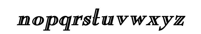 New England Engraved BoldItalic Font LOWERCASE