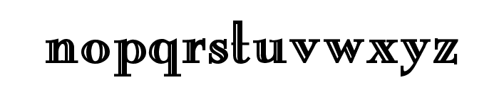 New England Engraved Bold Font LOWERCASE