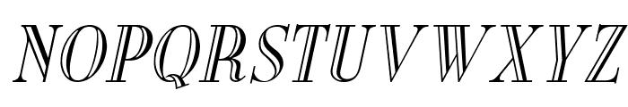 New England Engraved Italic Font UPPERCASE