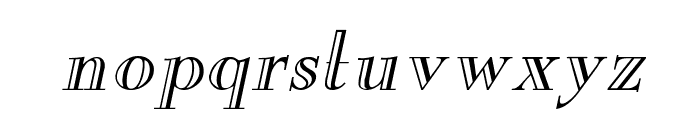 New England Engraved Italic Font LOWERCASE