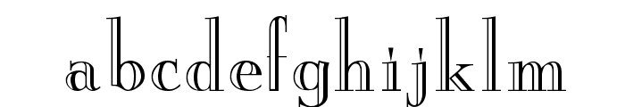 New England Engraved Normal Font LOWERCASE