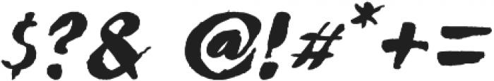 Ngabret Italic otf (400) Font OTHER CHARS