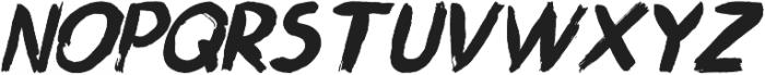 Ngabret Italic otf (400) Font UPPERCASE
