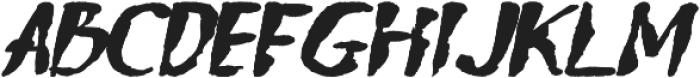 Ngabret Italic otf (400) Font LOWERCASE