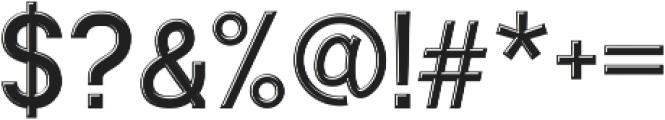 Ngopi Doken Emboss otf (400) Font OTHER CHARS