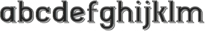 Ngopi Doken InlineShadow otf (400) Font LOWERCASE