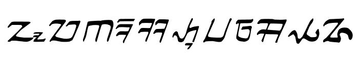 Ngalagena Font LOWERCASE
