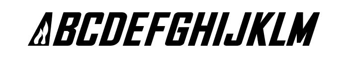 NHL Flames Font UPPERCASE