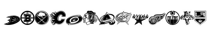 NHL Font LOWERCASE