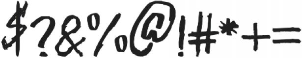 NIGHTMARE Regular otf (400) Font OTHER CHARS