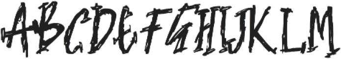 NIGHTMARE Regular otf (400) Font UPPERCASE